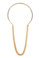 Forever 21 Curb Chain Collar Necklace Gold