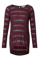 Noppies Women's Stripe Maternity Tunic Wine