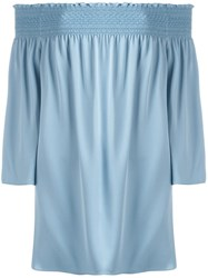 Theory Off Shoulder Blouse Blue