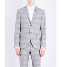Tiger Of Sweden Jil Slim Fit Monochrome Print Wool Jacket Grey