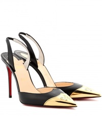 Christian Louboutin Calamijane 100 Leather Sling Back Pumps Black