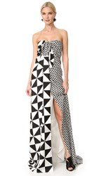 Monse Multi Geo Gown Black White