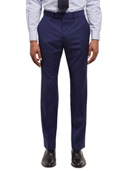 Jaeger Tropical Wool Regular Fit Suit Trousers Blue