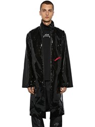 A Cold Wall Printed Pvc Raincoat Black