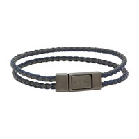 Prada Removable Braided Leather Band Bluette Nebbia