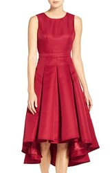 Lulus Women's Lulu's Cutout Back Tea Length High Low Dress Wine Red