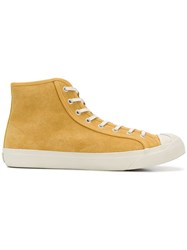 Ymc Lace Up Hi Top Sneakers Yellow And Orange