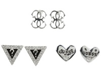 Guess Set Of Three Logo Studs Silver Earring