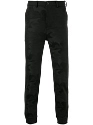 Loveless Tailored Fitted Trousers Acrylic Polyester Polyurethane Black