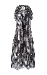 Figue Sleeveless Dot Print Dress