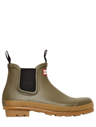 Hunter Rubber Short Rain Boots Khaki