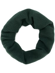 Pierre Louis Mascia Classic Knitted Scarf Silk Cashmere Wool Green
