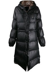 Philipp Plein Flame Puffer Coat Black