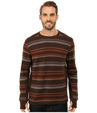 Prana Driftwood L S Crew Henna Men's Long Sleeve Pullover Brown