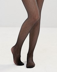 Leg Avenue Dotted Net Tights Black