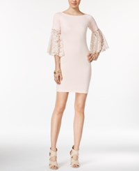 Bar Iii Lace Sleeve Sheath Dress Only At Macy's Ballet Pink