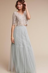 Anthropologie Libby Top Light Grey