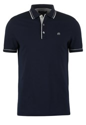 Banana Republic Slim Fit Polo Shirt Preppy Navy Dark Blue