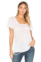 Pam And Gela Destroyed Scoop Neck Tee White