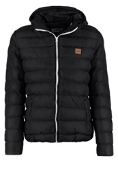 Urban Classics Basic Bubble Winter Jacket Black White