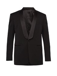 Calvin Klein 205W39nyc Silk Lapel Single Breasted Wool Tuxedo Jacket Black Yellow
