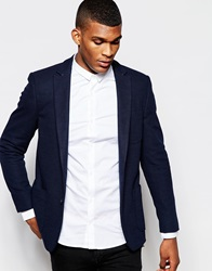 Vito Jersey Blazer In Slim Fit Navy