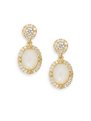 Freida Rothman Mother Of Pearl And 14K Yellow Gold Vermeil Drop Earrings