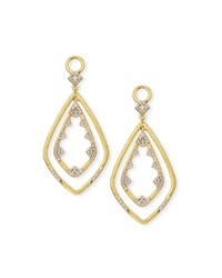 Jude Frances 18K Lisse Double Drop Diamond Kite Earring Charms Gold