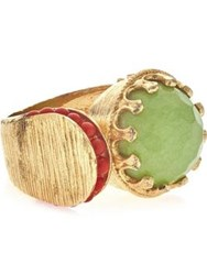 Ottoman Hands Festival Wrap Ring Gold Plated