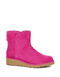 Ugg Kristin Sheepskin Wedge Ankle Boots Pink