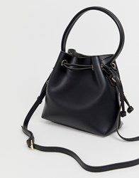 Melie Bianco Faux Leather Mini Tote Bag Black