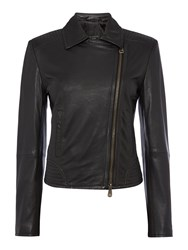 Max Mara Getti Leather Jacket Black