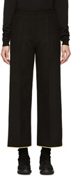 Denis Gagnon Black Felted Wool Trousers