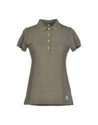 Authentic Original Vintage Style Topwear Polo Shirts Women Military Green