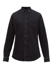 Schnayderman's Stonewashed Cotton Denim Shirt Black