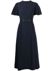 Emporio Armani Belted T Shirt Dress Blue