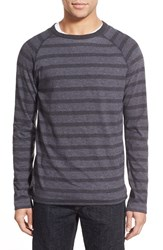 Men's Billy Reid Regular Fit Stripe Crewneck Sweater