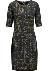 M Missoni Jacquard Knit Wool Blend Dress Black