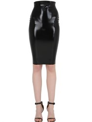Atsuko Kudo Zip Tight Latex Pencil Skirt