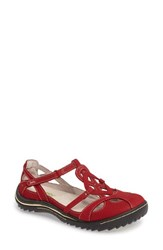 Jambu Women's Spain Studded Strappy Sneaker Red