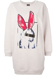 Mcq By Alexander Mcqueen 'Liesa Bunny' Sweatshirt Dress Pink And Purple