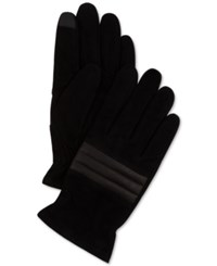 Calvin Klein Men's Suede Quilted Gloves Black