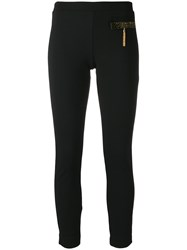 Class Roberto Cavalli Cropped Embellished Leggings Black