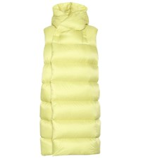 Rick Owens Funnel Neck Puffer Vest Yellow