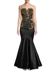 Mandalay Sequined Mermaid Gown Black