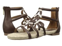 Adrienne Vittadini Pablic Dark Brown Distressed Women's Sandals