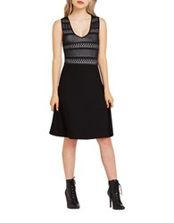 Bcbgeneration Lace Stitch Dress Black