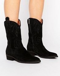 Selected Femme Alicia Suede Boot Black