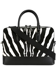 Burberry Zebra Print Briefcase Black