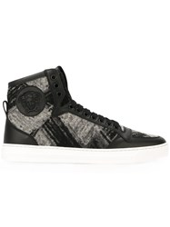 Versace Medusa Hi Top Canvas Sneakers Black